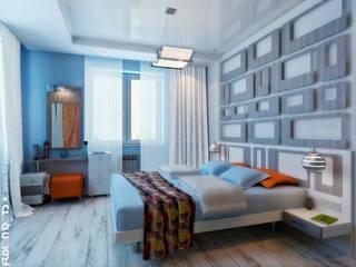 Интерьер коттеджа, жилая зона Спальня в эклектичном стиле от Fusion Dots Эклектичный