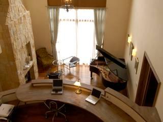 Oficinas y bibliotecas de estilo mediterráneo de SANKAIDO | 株式会社 参會堂 Mediterráneo