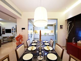 ABIL Experience Center - Castle Royale T4 Modern dining room by Aijaz Hakim Architect [AHA] Modern