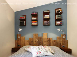 Industrial style bedroom by homify Industrial Solid Wood Multicolored