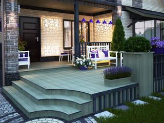 Мастерская ландшафта Дмитрия Бородавкина Scandinavian style garden Wood Purple/Violet