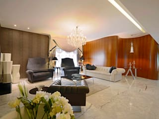ABIL Experience Center - Castle Royale T7 Modern living room by Aijaz Hakim Architect [AHA] Modern