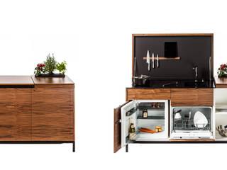 Des mini-cuisines spécialement conçues pour les petits espaces Charlotte Raynaud Studio CuisinePlacards & stockage Bois
