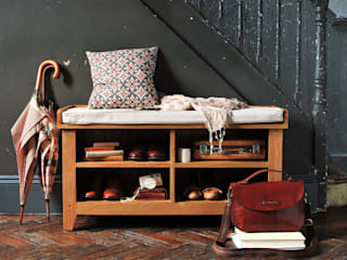 Oakland Shoe Storage Bench and Cushion The Cotswold Company Ingresso, Corridoio & ScaleContenitori Legno