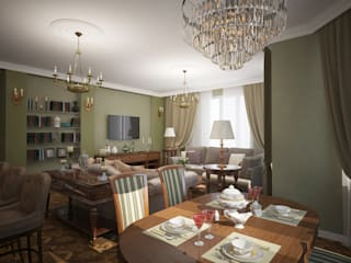 Eclectic style dining room by Designer Olga Aysina Eclectic