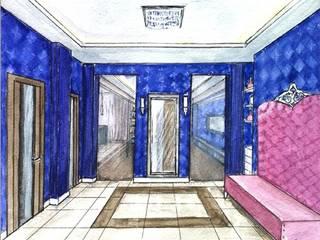 Дизайнер Ольга Айсина Ingresso, Corridoio & Scale in stile eclettico