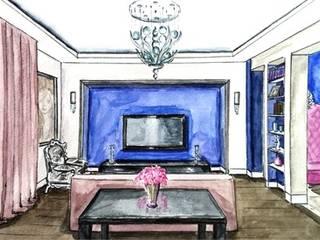 Эскизы: Гостиная в . Автор – Designer Olga Aysina