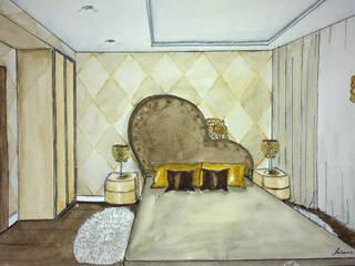 Ausgefallene Schlafzimmer von Designer Olga Aysina Ausgefallen