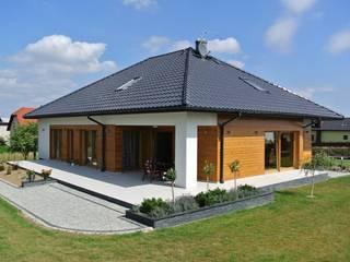 DOM MARCEL G2 - przytulna nowoczesność w najlepszym wydaniu! Nowoczesne domy od Pracownia Projektowa ARCHIPELAG Nowoczesny