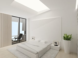 Camera da letto in stile in stile Minimalista di ARCHDUET&DA