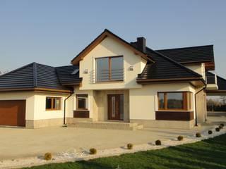 Dom Naomi G2 - stylowa elegancja i luksus przestrzeni we wnętrzu!: styl , w kategorii Domy zaprojektowany przez Pracownia Projektowa ARCHIPELAG,Nowoczesny