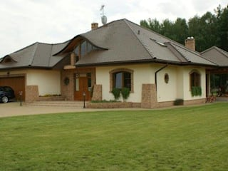 Dom Seweryna G2 - zachwycający styl, piękne wole oczy i komfortowa przestrzeń możliwości! : styl , w kategorii Domy zaprojektowany przez Pracownia Projektowa ARCHIPELAG,Klasyczny