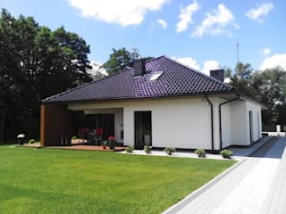 Nowoczesny dom Margaret II G2 - komfort w modnym wydaniu!: styl , w kategorii Domy zaprojektowany przez Pracownia Projektowa ARCHIPELAG,Nowoczesny