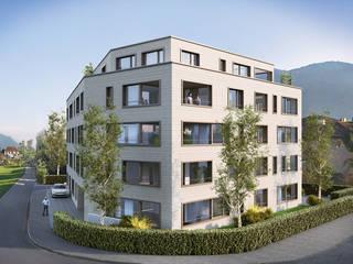 """Mehrfamilienhaus """"Im Dörfli"""", Wangen SZ:  Häuser von Fröhlich Architektur AG,Modern"""