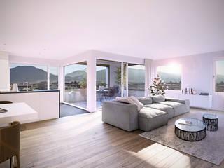 غرفة المعيشة تنفيذ Fröhlich Architektur AG