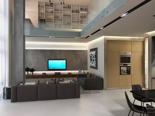 غرفة المعيشة تنفيذ Studio 25