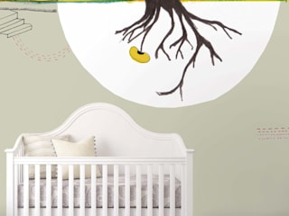 by House Frame Wallpaper & Fabrics