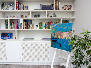 Двухуровневая квартира в ЖК Avenue Гостиная в стиле минимализм от Студия дизайна Саши Федоренко Минимализм