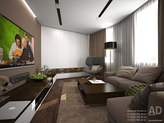 modern Living room by Ad-home