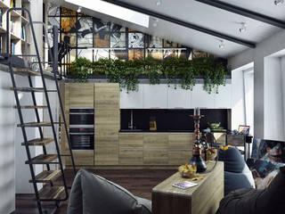 Industrial style living room by Хороший план Industrial
