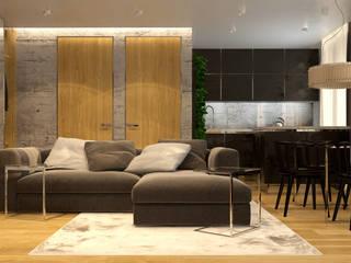 Городской Loft: Гостиная в . Автор – Smirnova Luba