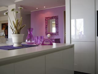 Giuseppe Rappa & Angelo M. Castiglione ห้องครัว ไม้ White