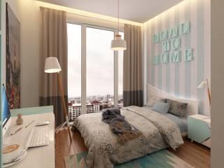 Murat Aksel Architecture Modern Kid's Room Wood Beige