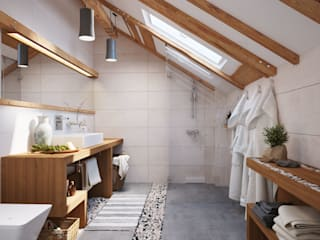 Polygon arch&des Scandinavian style bathroom