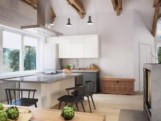Apartament OpenSpace: Кухни в . Автор – Polygon arch&des, Скандинавский