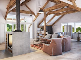 Skandinavische Wohnzimmer von Polygon arch&des Skandinavisch