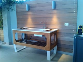 Balcones y terrazas de estilo moderno de LGTEK kitchen&furniture Moderno