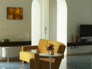 villa al mare Soggiorno minimalista di gabriele pimpini architetto Minimalista
