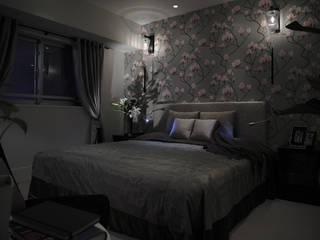 Schlafzimmer von 澤山乃莉子 DESIGN & ASSOCIATES LTD.,