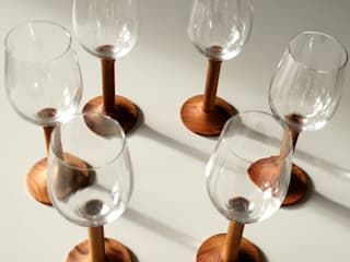 Besondere Weinglasserie von Architektur und Geomantie Ausgefallen
