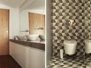 Casa na Póvoa de Varzim: Casas de banho  por ASVS Arquitectos Associados,Moderno