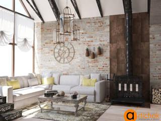 Artichok Design Living room Bricks Brown