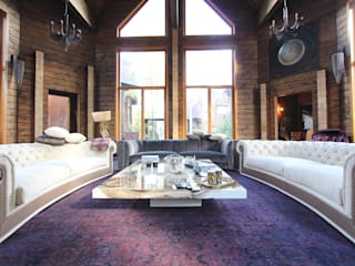 Log House Rustic style living room by Orkun İndere Interiors Rustic