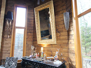 Log House Salas de estar rústicas por Orkun İndere Interiors Rústico
