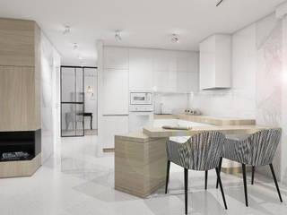 STREFA ODPOCZYNKU Nowoczesna kuchnia od UTOO-Pracownia Architektury Wnętrz i Krajobrazu Nowoczesny