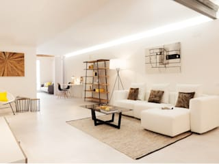 RIGHT DOWNTOWN Markham Stagers Salas de estar modernas Branco