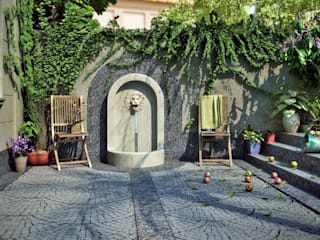 Mediterranean style garden by EMG Mimarlik Muhendislik Proje Çanakkale 0 286 222 01 77 Mediterranean
