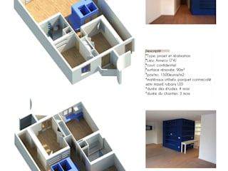 Blue Box:  de style  par EURL Atelier d'Architecture Michel Nicoletti