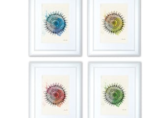 Zen yoga watercolor wall art prints design by NATURA PICTA:  in stile  di NATURA PICTA