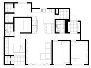 하얀 수국을 닮은 화이트톤 인테리어: 퍼스트애비뉴의 현대 ,모던