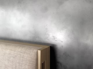 Metalloberflächen, Wandgestalltung mit Liquid Metall: ausgefallene Schlafzimmer von Wandkult
