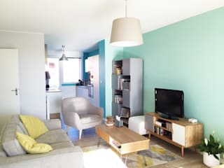 Agencement & Couleurs d'un appartement à Balma Salon scandinave par Mint Design Scandinave