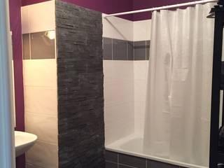 Mint Design Eclectic style bathroom Stone Purple/Violet