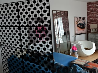 Decorative geometric laser cut screens for modern interiors:  Household by Lace Furniture