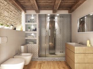 Rustic style bathroom by Architetto Luigia Pace Rustic