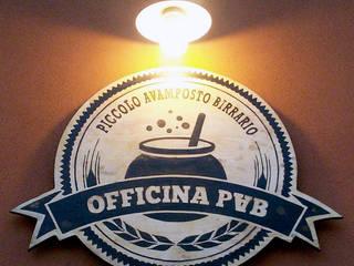 OFFICINA P.A.B. (Piccolo Avamposto Birrario) Gastronomia in stile industrial di Studio Proarch Industrial